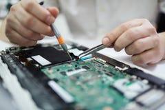 Monterande bräde för elektronisk strömkrets Arkivbild