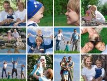 monterande familj royaltyfri fotografi