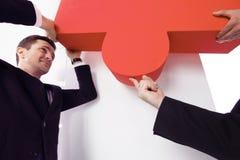 Monterande pussel för affärsfolk Royaltyfria Bilder
