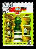 Monterande Soyuz-31, serie för Sovjet-öst Tysklandrymdfart, c Fotografering för Bildbyråer