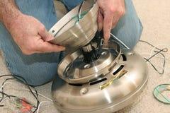 monterande ventilatormotor arkivfoto