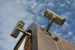 monterat tak för kameror cctv arkivfoto