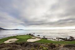 Γήπεδο του γκολφ παραλιών χαλικιών, Monterey, Καλιφόρνια, ΗΠΑ Στοκ Εικόνα