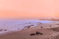 Monterey Bay Scenic Sunrise Stock Photography