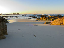 Monterey, California. Beach in the sunset in Monterey, California Royalty Free Stock Photo