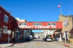 Street view in the Cannery Row district of Monterey. Monterey, California, United States of America - November 29, 2017. Street view in the Cannery Row district stock photos