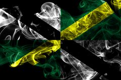 Monterey city smoke flag, California State, United States Of America.  royalty free stock images
