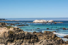 Monterey, the coast. A view of a part of the coast of Monterey, California Royalty Free Stock Image