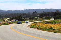 Monterey 17 Mile Drive. Along scenic pacific west coast Royalty Free Stock Images