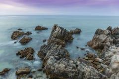 Monterey Peninsula Coastline at Twilight - California Stock Images