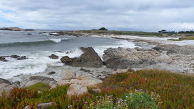 Monterey rocky coast inlet. View from rocky coast inlet near Monterey California USA Royalty Free Stock Photos