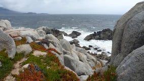 Monterey rocky coast Stock Photo