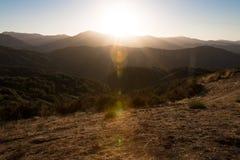 Monterey sunset stock photo