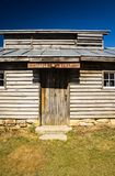 Duff`s Sugar House making Maple Syrup. Monterey, VA – March 16th: The building for making maple syrup at Duff`s Sugar House located in Blue Grass Valley stock image