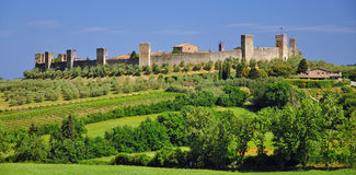 Monteriggione,Tuscany Royalty Free Stock Photography