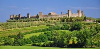 monteriggione Tuscany fotografia royalty free