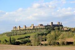 Monteriggioni在意大利 免版税库存照片