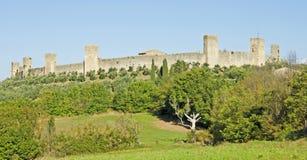 Monteriggioni在意大利 免版税库存图片