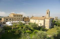 Monteriggioni,托斯卡纳,意大利 免版税库存图片