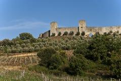 monteriggioni крепости Стоковое Изображение RF