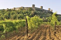 monteriggioni Тоскана Италии castello стоковое изображение rf