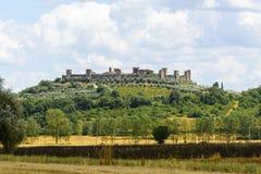 Monteriggioni (Тоскана) Стоковое фото RF