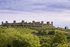 Monteriggioni Royalty-vrije Stock Afbeeldingen