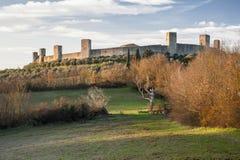 Monteriggioni Fotografie Stock