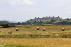 Monteriggioni Italien, Tuscany royaltyfria foton