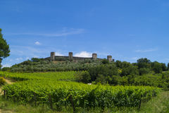 Monteriggioni. A little medieval city near the Siena, Toscana, Italy Royalty Free Stock Photos