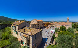 Monteriggioni medieval town in Tuscany Italy Royalty Free Stock Photography