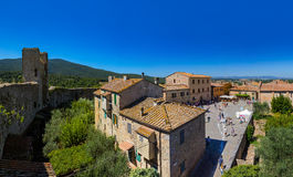 Monteriggioni medieval town in Tuscany Italy Royalty Free Stock Image