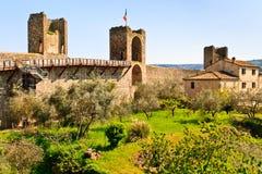Monteriggioni près de Sienne, Toscane, Italie image stock