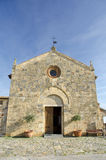Monteriggioni - Santa Maria church Royalty Free Stock Photo