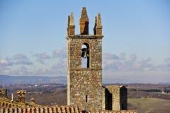Monteriggioni, Toscana, Italia Fotografía de archivo libre de regalías