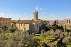 Monteriggioni, Toscane, Italie Images stock