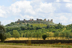 Monteriggioni (Toscanië) Royalty-vrije Stock Foto