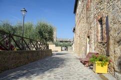 Monteriggioni, Toscanië, Italië Stock Foto