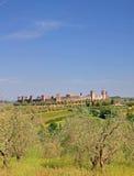 Monteriggioni, Toskana, Italien Stockbild