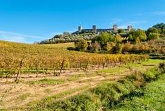 Monteriggioni Tuscany, Italien Arkivfoto