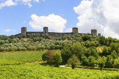 Monteriggioni (Tuscany) Royalty Free Stock Photo
