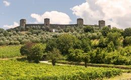 Monteriggioni (Tuscany) Stock Photography