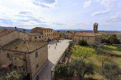 Monteriggioni was an important defensive line for the city Royalty Free Stock Photos