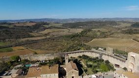Monteriggioni widoku papugi aereal dyskoteka zbiory
