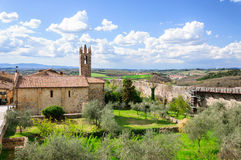 Monteriggioniborstwering, Toscanië Royalty-vrije Stock Foto's