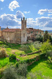 Monteriggioniborstwering, Toscanië Royalty-vrije Stock Afbeeldingen