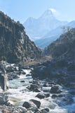 Montering Amadablam höga Himalaya Royaltyfri Bild