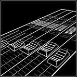 Montering av konsolen för video eller ljudsignal blandning vektor illustrationer