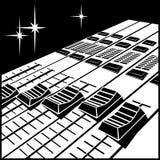 Montering av konsolen för video eller ljudsignal blandning royaltyfri illustrationer