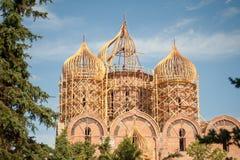 Montering av kupolkyrkan royaltyfria foton